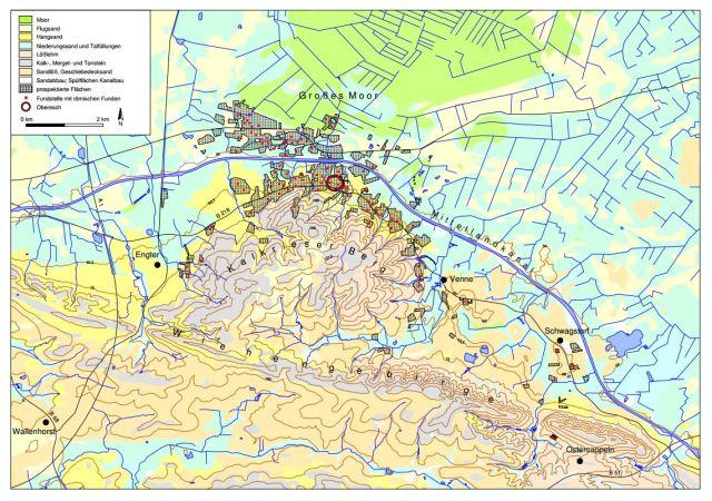 Varusschlacht Karte.Kalkriese Universitat Osnabruck